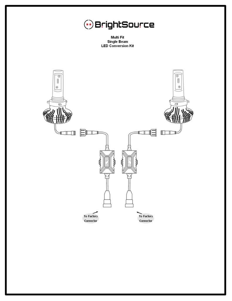 #94911 H11- High Beam LED Kit Reversible Heatsink