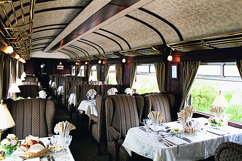 Hiram Bingham dining - this is not your mama's train!