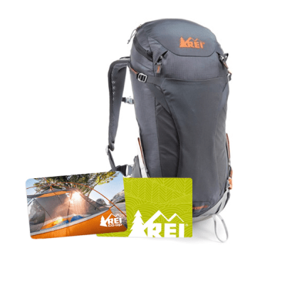 Outdoors experiential gift card package