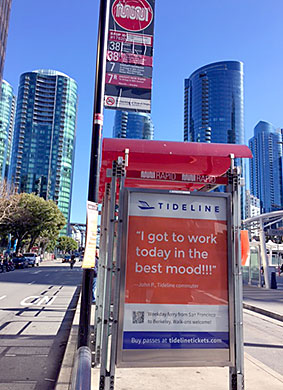 Tideline Clear Channel Outdoor campaign