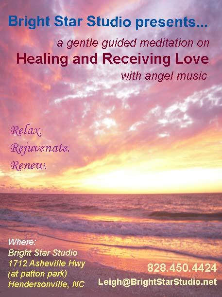 Healing Meditation flyer template Monday