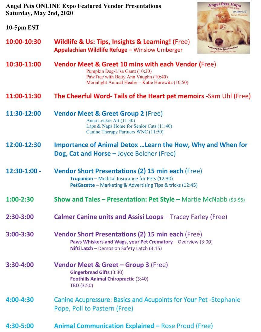 Angel Pets ONLINE Expo Featured Vendor Presentations FINAL Brief 5