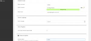 WordPress Advanced Options Screen