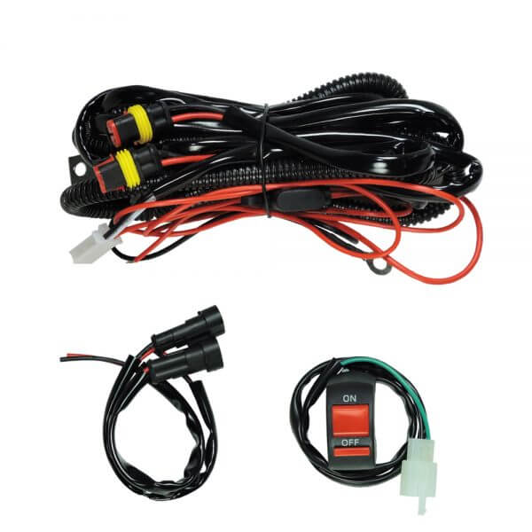 wire set with standard switch of the auxiliary light for motorcycle led driving light