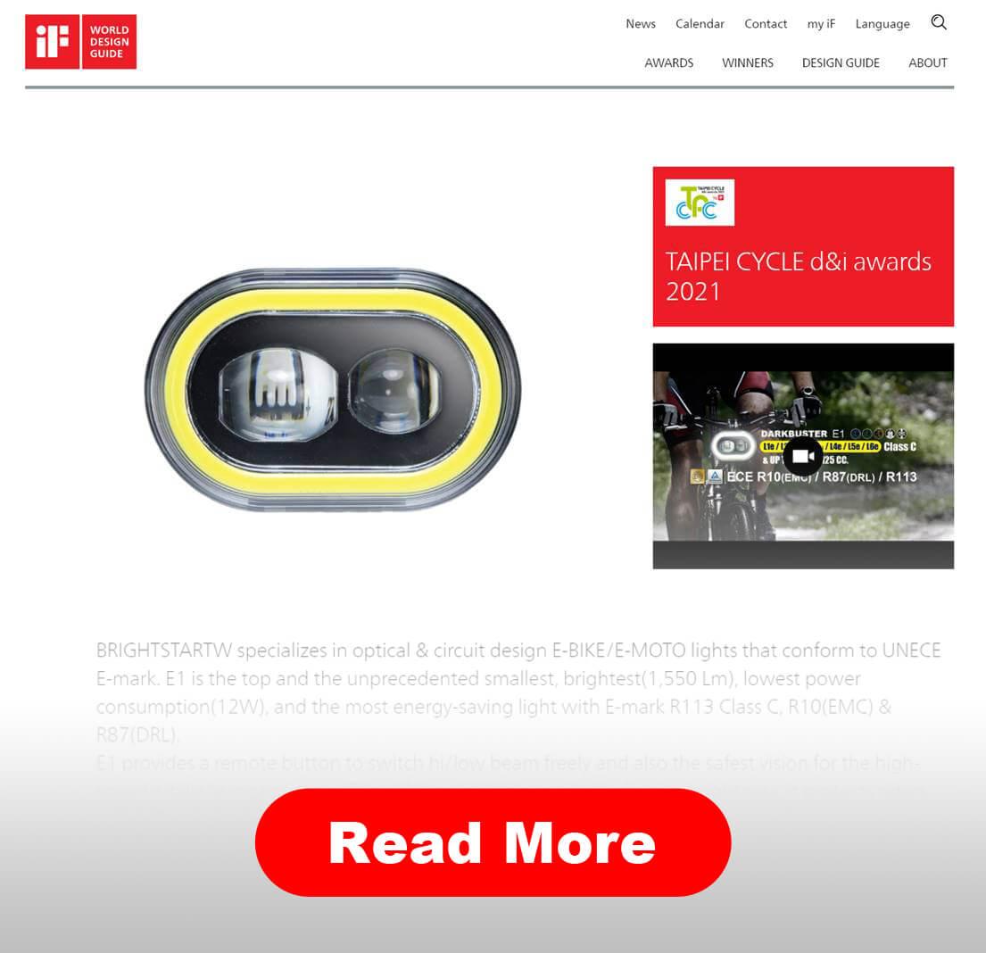 TAIPEI CYCLE d&i awards 2021 WINNERS-DARKBUSTER E1-2