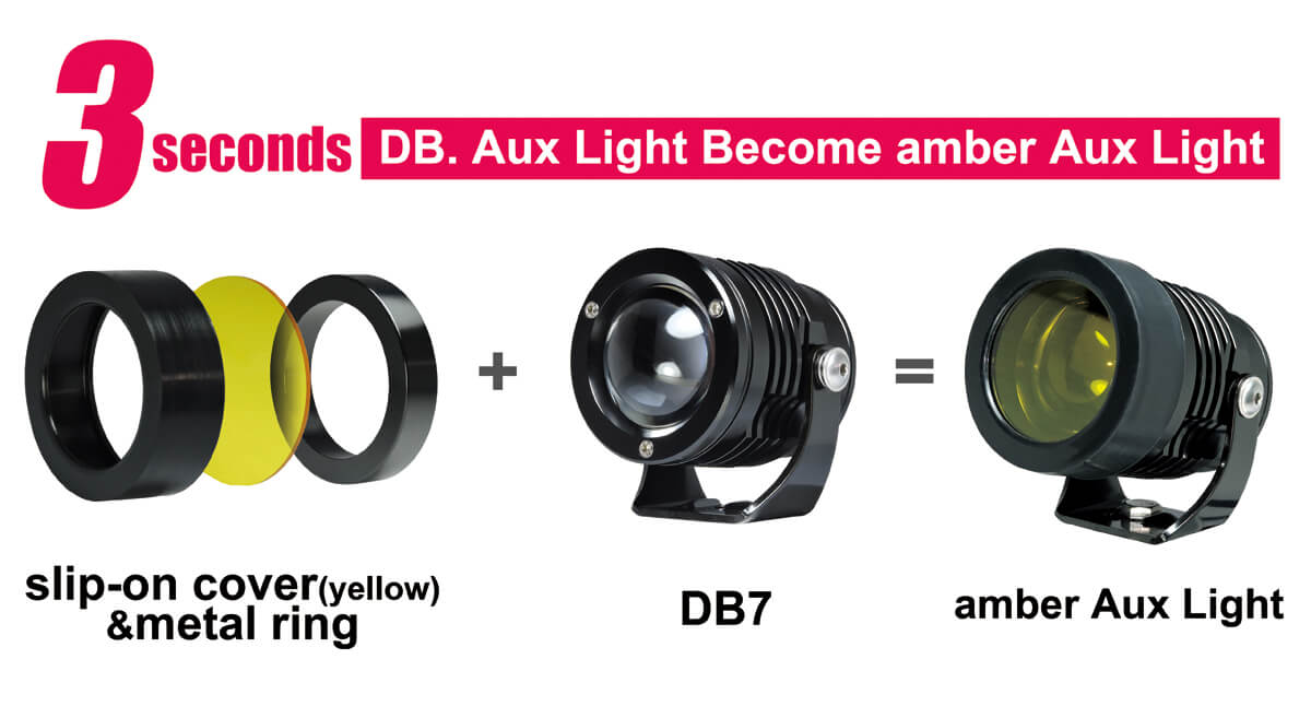 Auxiliary Light Covers For DB7 Use