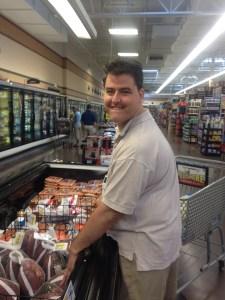 BrightStone student, Jock, buying groceries