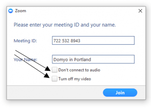 Zoom Computer App - Meeting Settings