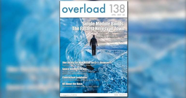 April 2017 ACCU Overload 138 Journal Cover