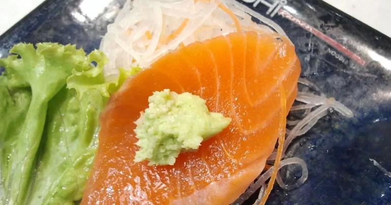 Wasabi Paste on Sashimi