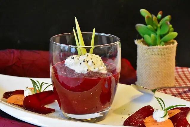 Beetroot dessert