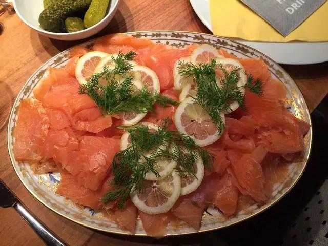 Dill on Salmon