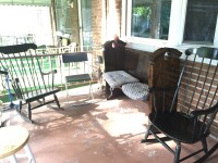 Tapchan Awning Astroturf Front Porch Rocking Chairs For ...