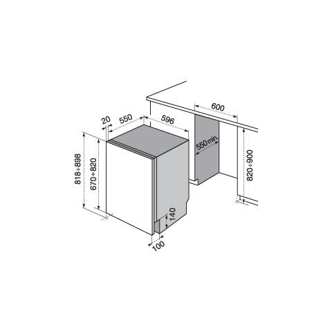 Lavastoviglie Da Incasso, Rex Electrolux TT795R5 Classe A++, 15 Coperti, 3°  Cestello, Real Life U2013 Foligno