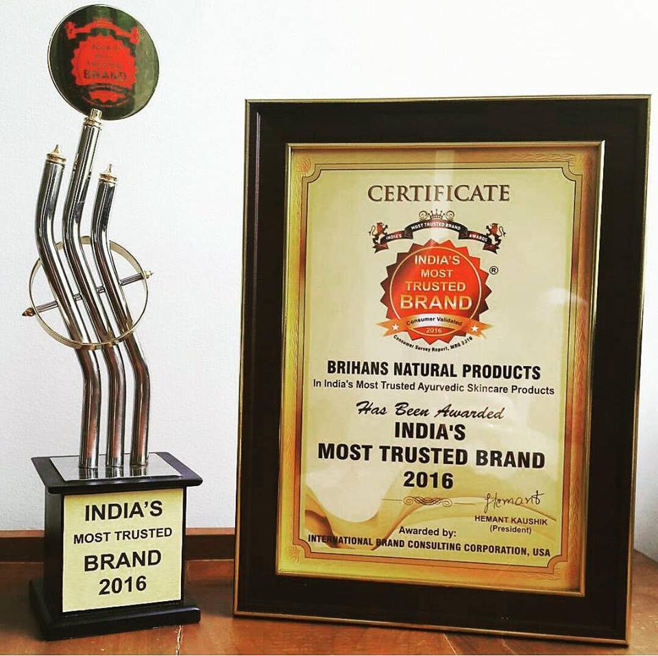 Most Trusted Brand Award | Brihans Natural Products Ltd. | Green Leaf | 2016