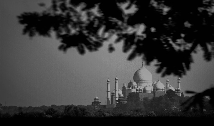 BLACK AND WHITE PICTURE OF TAJ MAHAL CAPTURED BY BRIJESH KAPOOR