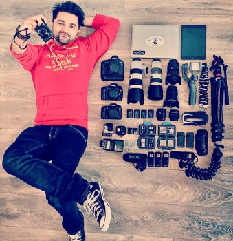 BRIJESH KAPOOR PHOTOGRAPHY WITH ALL HIS CAMERA GEAR WHICH INCLUDES A CANON 1DX CAMERA BODY CANON 80D CAMERA CANON 7D CAMERA CANON G7X MARK 2 CAMERA GO PRO HERO 7 ACTION CAMERA GO PRO HERO 4 BLACK ACTION CAMERA DJI MAVIC AIR DRONE CANON 70-200MM F2.8 L III IS USM LENS CANON 70-200MM F4 L USM LENS CANON 25-105MM F4 L IS USM LENS CANON 50 MM F1.8 STM LENS CANON 50MM F1.8 LENS TOKINA 11-20 F2.8 LENS CANON SPEEDLIGHT 430 EX 2 FLASH DJI OSMO MOBILE 2 MANFROTTO BEFREE TRAVEL TRIPOD RODE VIDEO MIC PRO DIGITEK REMOTE CONTROLLERS JOBY GORILLAPOD FOCUS JOBY MINI GORILLAPOD APPLE MACBOOK PRO APPLE IPAD