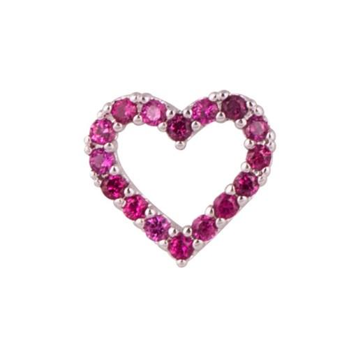 Pingente Mini Coração prateado Cápsula