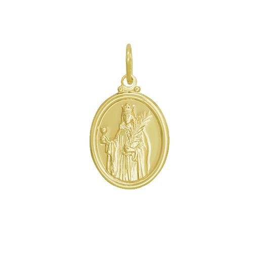 Pingente Medalha Santa Bárbara