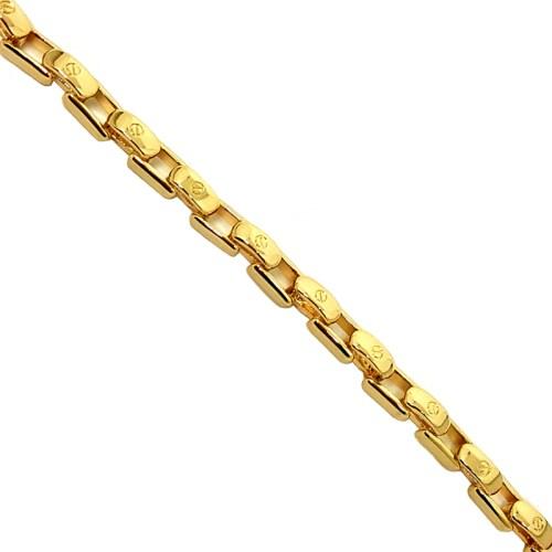 Pulseira masculina elos cartier joia folheada em ouro 18k
