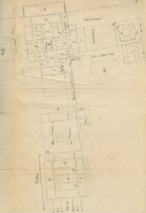 small resolution of plan of areas of the reception hall block in samarra s main caliphal palace excavated by ernst herzfeld foldout preserved in his second campaign diary
