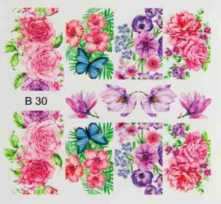 3d effect nail sticker B30 - Brillbird България