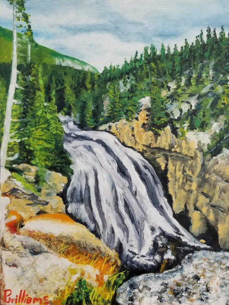 Gibbon Falls Painting
