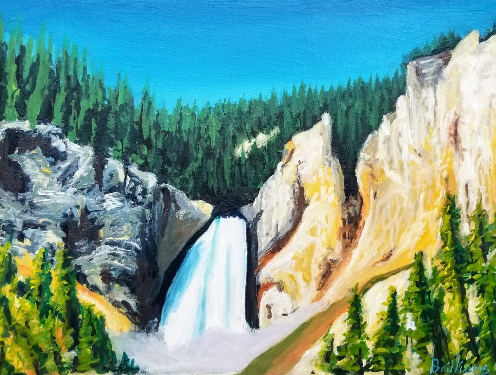 """Lower Falls"" Yellowstone National Park Painting"