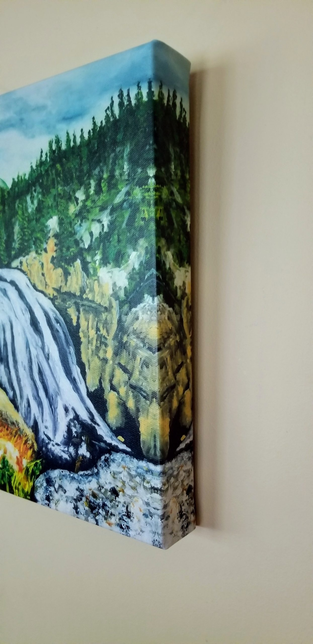 """Gibbon Falls"" Canvas Print"