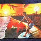 Custom Print Beach Towel features Skimmers painting