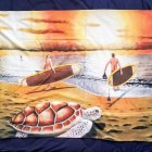 Custom Print Beach Towel features Paddle Out painting
