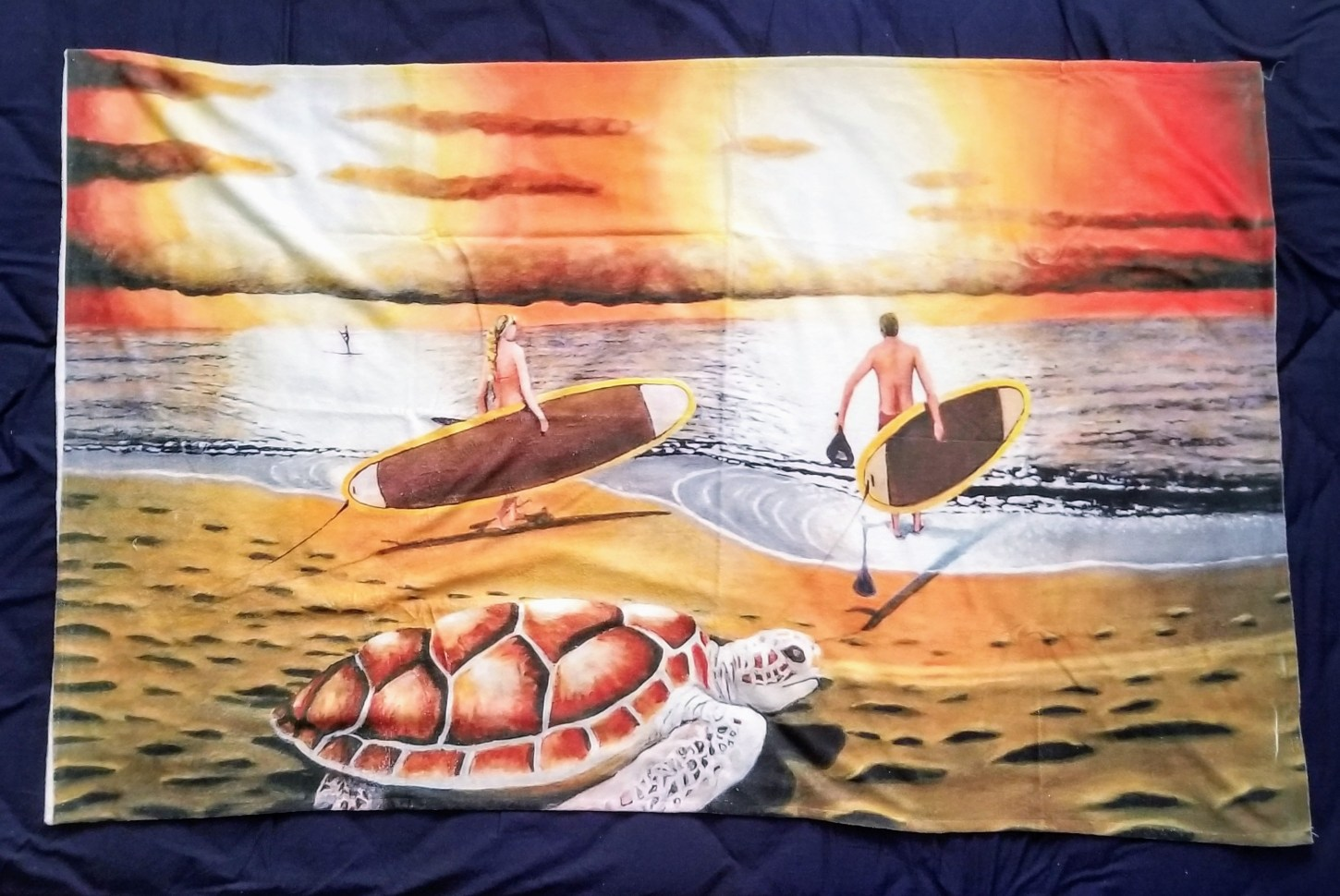 custom print beach towel features