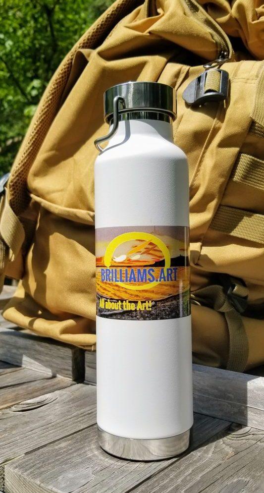 """""""Yellowstone Lake Peninsula"""" 22oz. Insulated Bottle"""