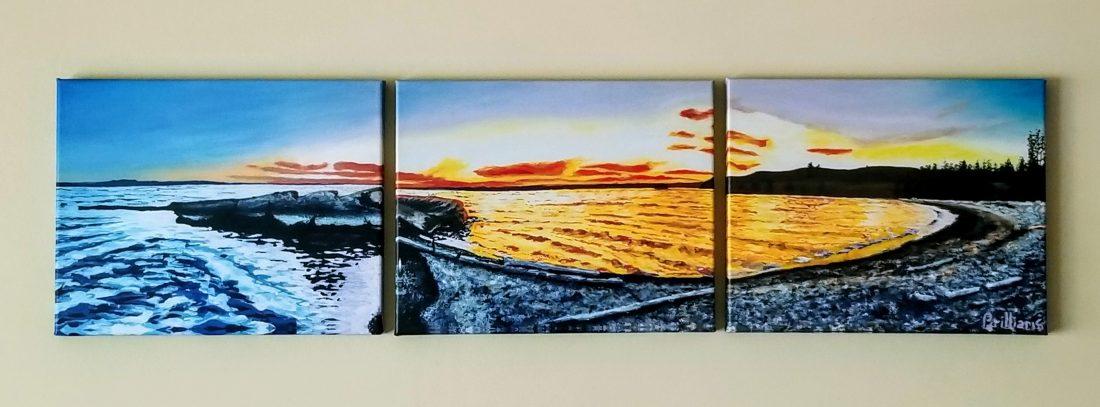 """""""Yellowstone Lake Peninsula"""" Canvas Print"""