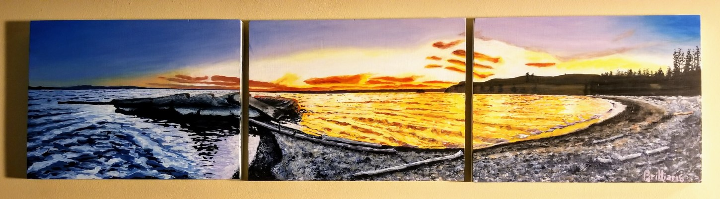 """Yellowstone Lake Peninsula"" Yellowstone National Park Painting"