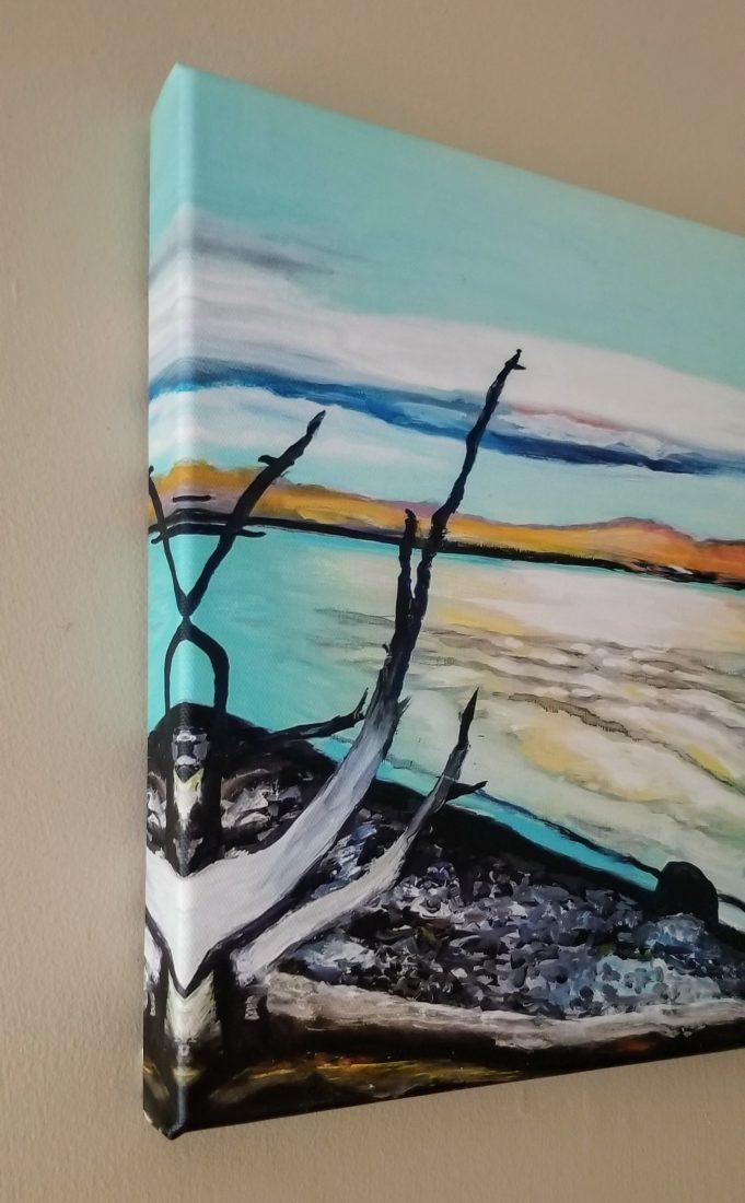 Yellowstone Lake Village Canvas Print