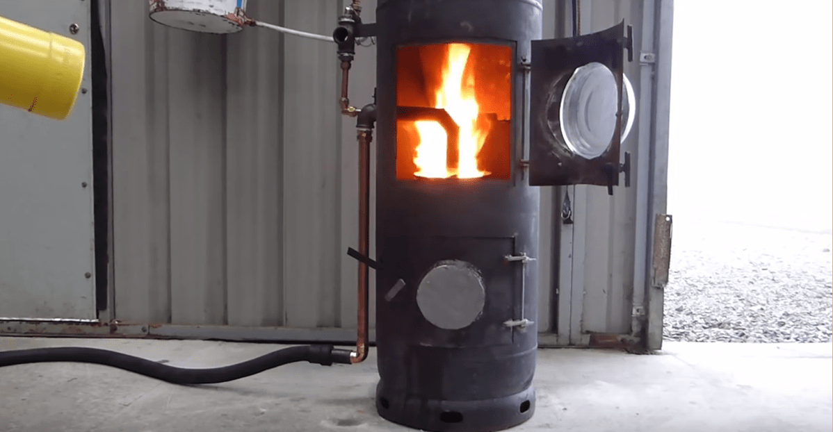 [Video] DIY High Efficiency, High Output Waste Oil Burner