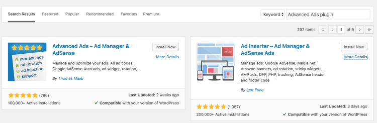 Ad Manager Plugins for Starting Blog