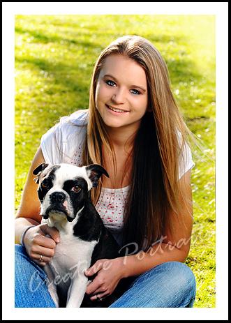 senior with dog