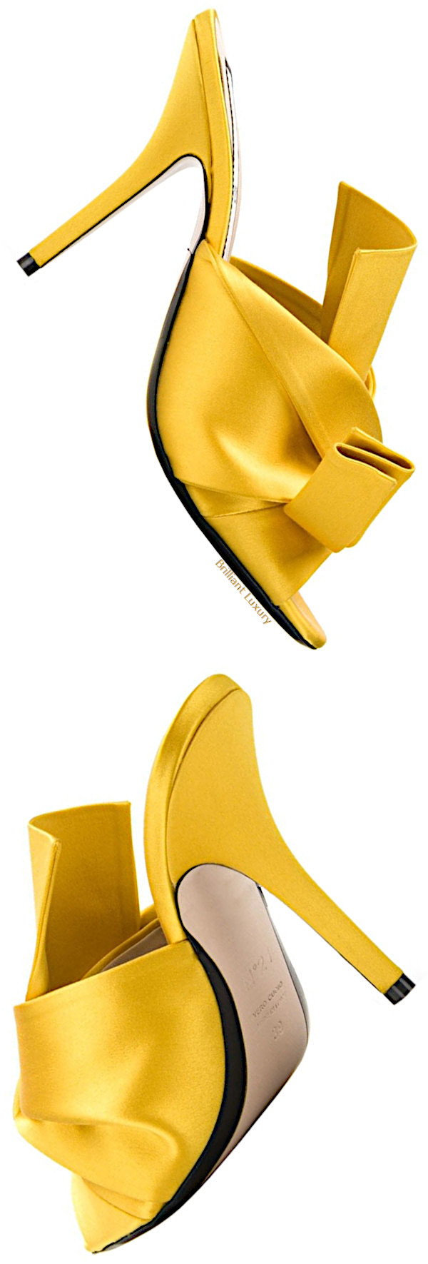 Nº21 knot detailed mules in yellow