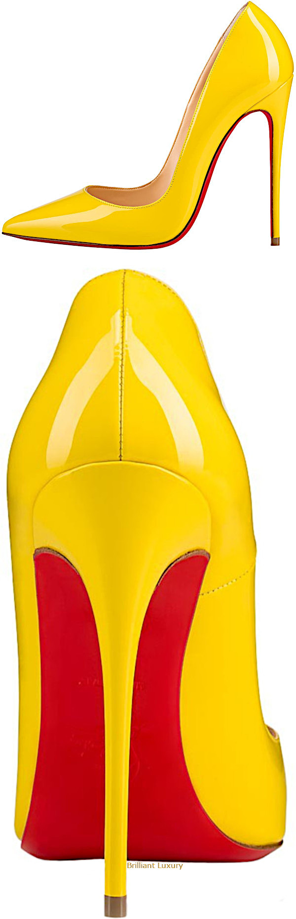 Christian Louboutin So Kate patent leather pumps in yellow