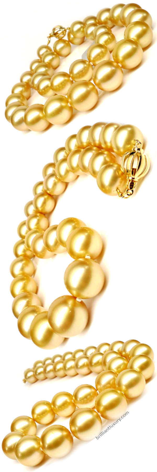 Yellow south sea pearl necklace