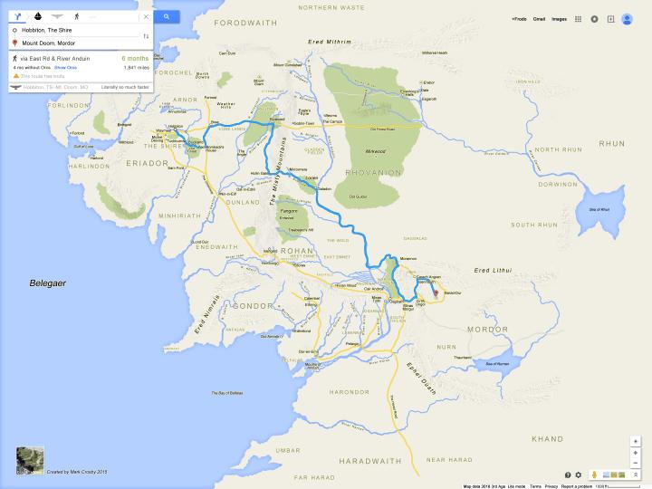 Frodo Google maps