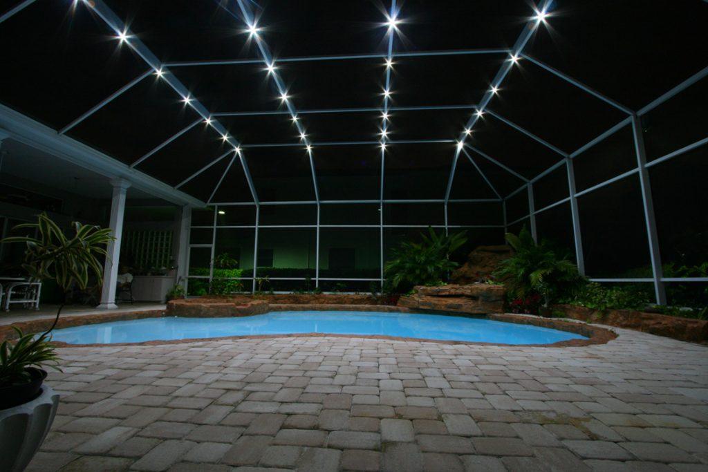 pool enclosure lighting brilliant nights