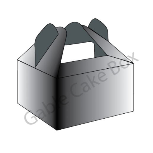 cake box with handle template