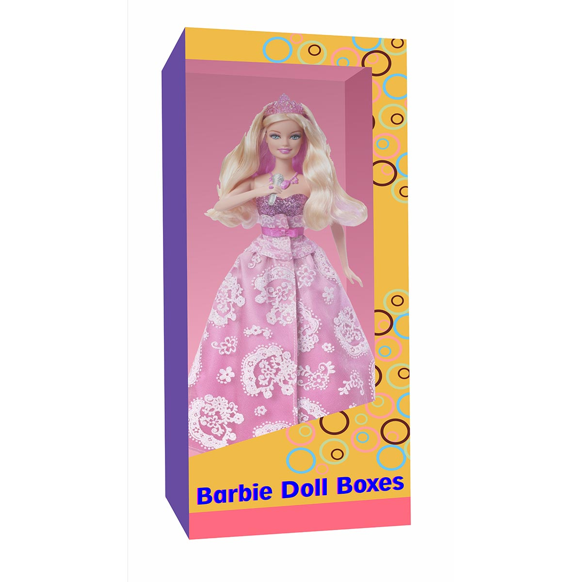human size barbie box