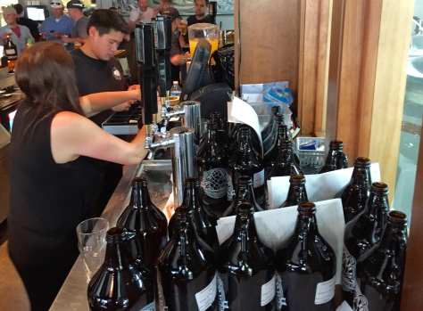 Growlers ready to go at Black Sheep