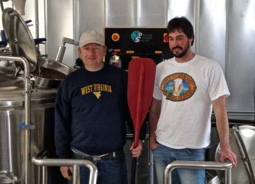 Ken and Nate in the early days of Bridge Brew