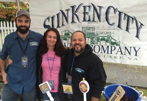 Sunken City brewer Jeremy Kirby (right) found success at 2015 Bramwell Oktoberfest by winning three medals.