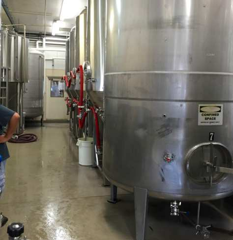 Brewery equipment at jackie O's existing facility